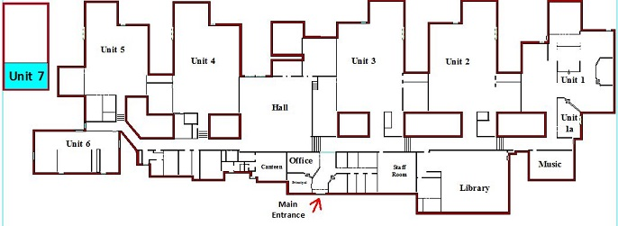 The map showing the location of the Kindergarten class - Unit 7
